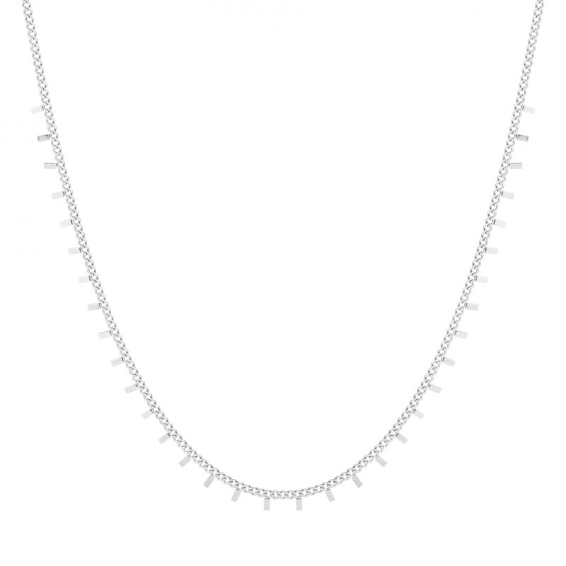 Necklace bars silver