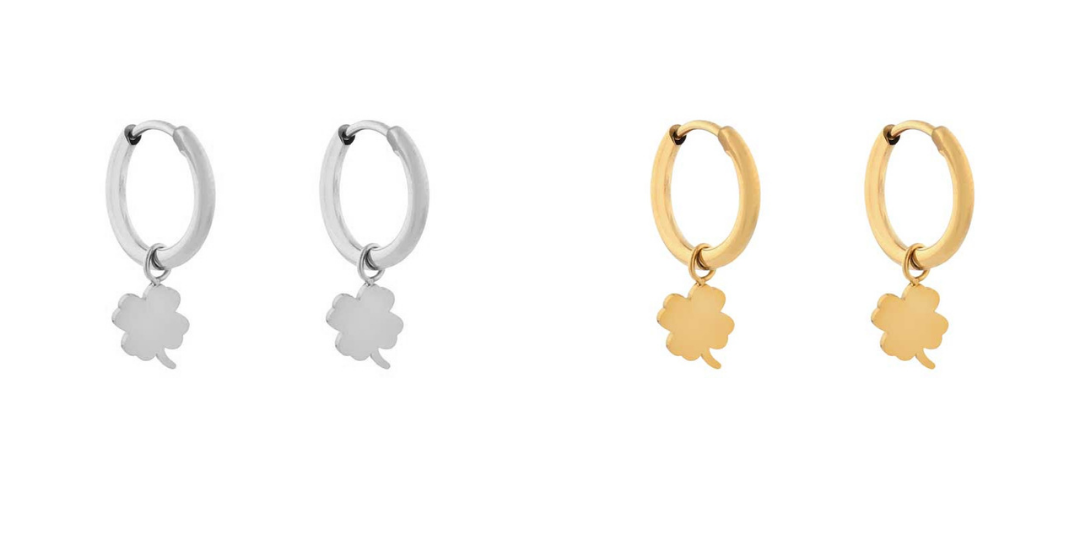 Earrings minimalistic clover