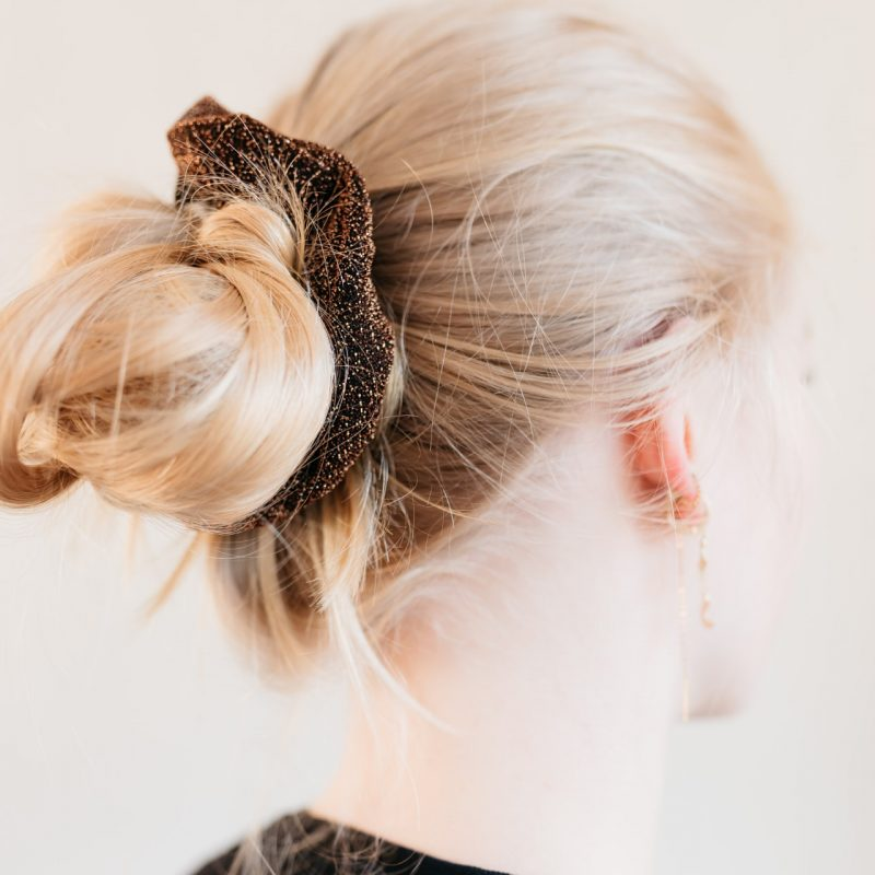 Christmas gift - a sparkling scrunchie